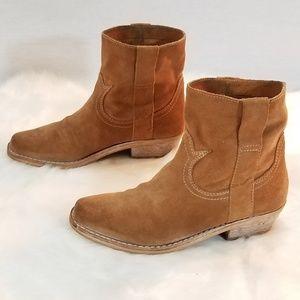 Sam Edelman Suede Western Ankle Booties